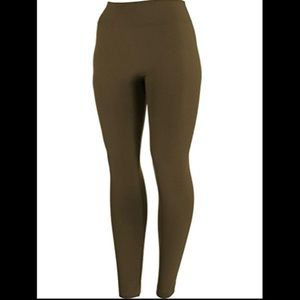 Dark Green Fleece Lined Leggings